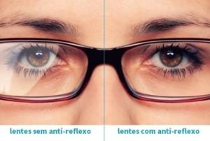 3fa4ef9d2 As lentes sem a camada anti-reflexo produzem reflexos de luz ou efeitos de  espelhamento que atrapalham, tanto quem usa quanto a pessoa com quem ele(a)  está ...